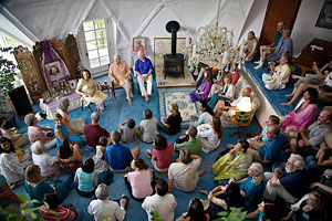 Gathering at Crystal Hermitage with Swami Kriyananda