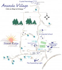 Extra large Ananda Village map