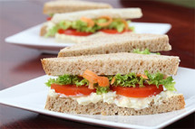 Our deli features delicious vegetarian sandwiches and entrees to go. Start your morning with a hot breakfast sandwich, made daily Monday – Friday.